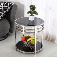 Stainless Steel Coffee Table Small Table Small Double Small Round Glass Coffee Table Side A Few