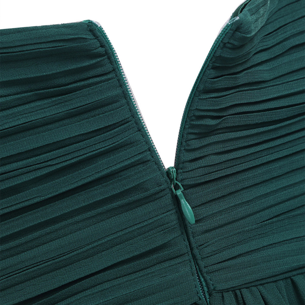 4 Color Women Ladies Chiffon Pleated Formal Dress for Birthday Party Long Evening Prom Gown 18 Summer Hot Dresses for Womens 6