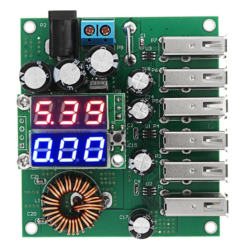 DC-DC Power Converter 10-30V to 5V 8A 6 USB Power Converter High Power Car Power Regulator ModuleDC-DC Power Converter 10-30V to 5V 8A 6 USB Power Converter High Power Car Power Regulator Module