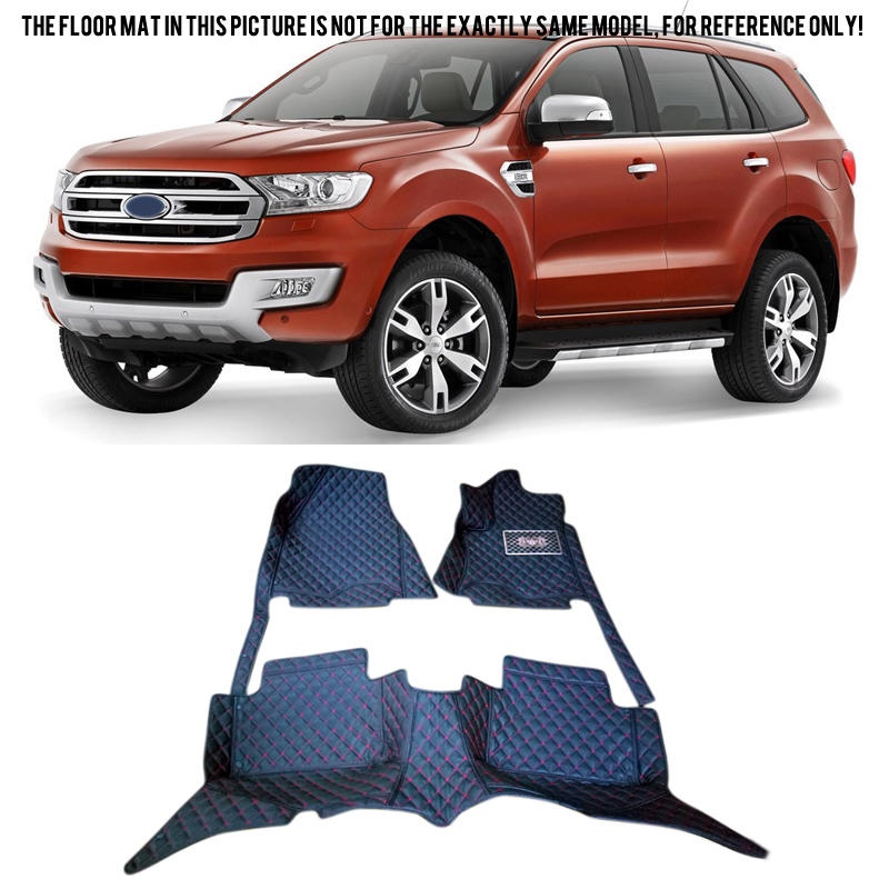 Only fit 7 Seats !! For Ford EVEREST SUV 4DR 2015 2016 Accessories Interior Leather Carpets Cover Car Foot Mat Floor Pad 1set 10 16 for land rover discovery 4 l319 2010 2016 accessories interior leather carpets cover car foot mat floor pad 1set