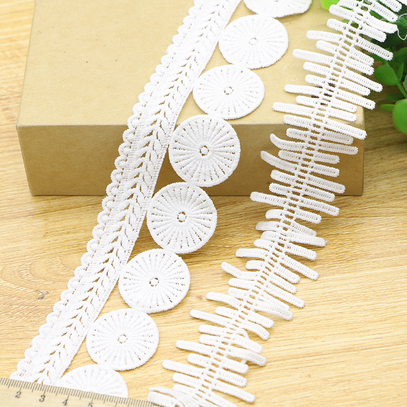 3 yards/lot Width 5cm white Water soluble lace fabric/wedding decoration curtains clothes Accessories