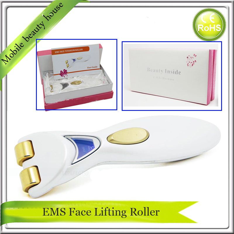 LCD Display EMS Microcurrent Therapy Double Chin Wrinkle Remover Skin Lifting Tightening Face Beauty Care Roller Massager Device