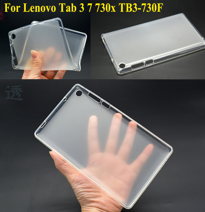 For Lenovo Tab 3 7 730X 730 730F 730M TB3-730X Cover Soft TPU Rubber Case For Lenovo Tab3 7inch TB3-730F TB3-730M Back Case аксессуар защитная пленка lenovo tab 3 730x protect матовая 21135