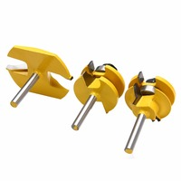 3pcs Set 1 4 Shank Ogee Rail Raised Blade Cutter Panel For Wood Cutting Durable Woodworking