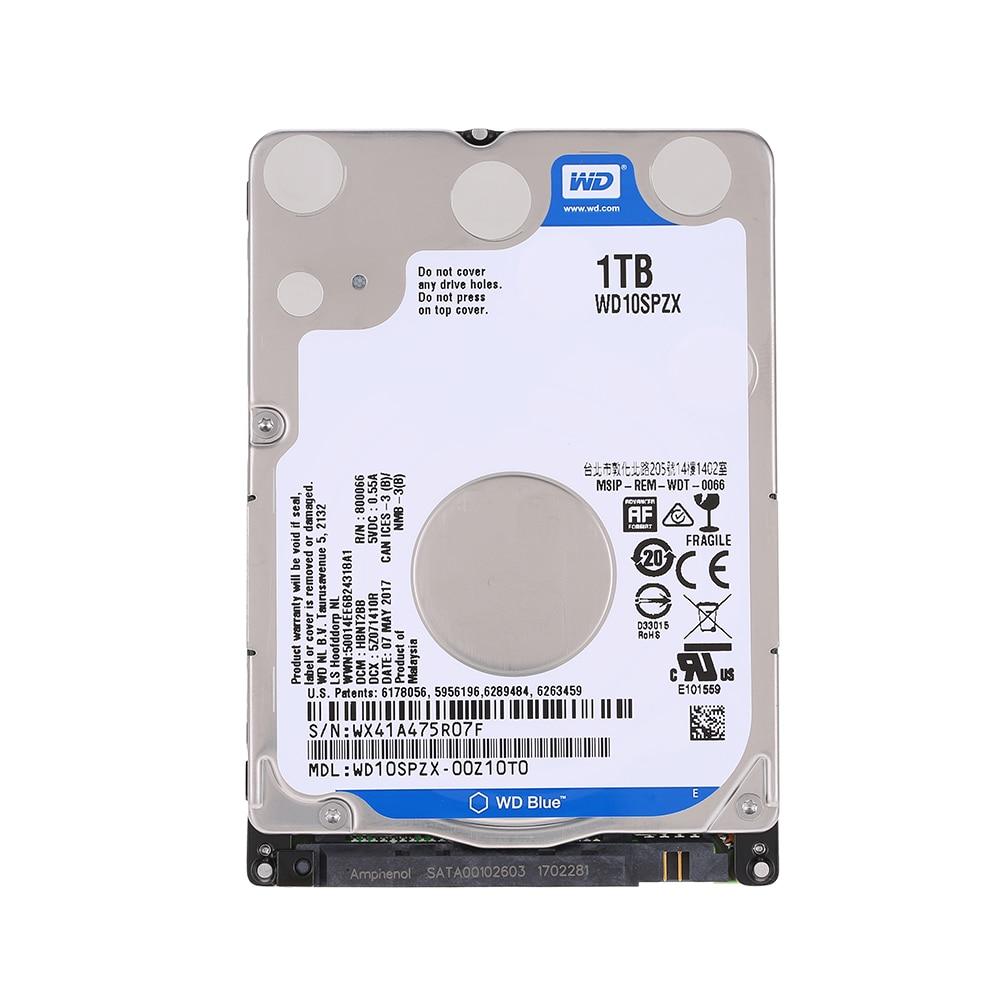 Western Digital WD Blue 2.5'' 1TB SATA 6Gb/s 5400RPM HDD Internal Hard Disk Drive 1TB HD Hard drive For Laptop Mobile Notebook