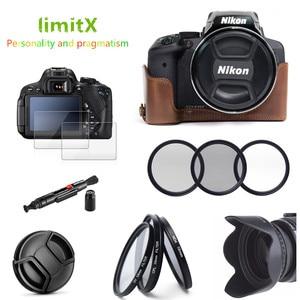 Image 1 - Etui en cuir 9 en 1 + filtre + pare soleil + stylo de nettoyage + protecteur de verre pour appareil photo numérique Nikon CoolPix P900 P900s