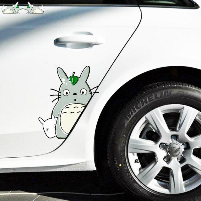 Aliauto 2 X Bonito Dos Desenhos Animados Totoro Porta Do Carro Etiqueta Do Carro Decalque para Toyota Proda Hilux Camry Verso Corolla 2014 Auris tundra Nissan