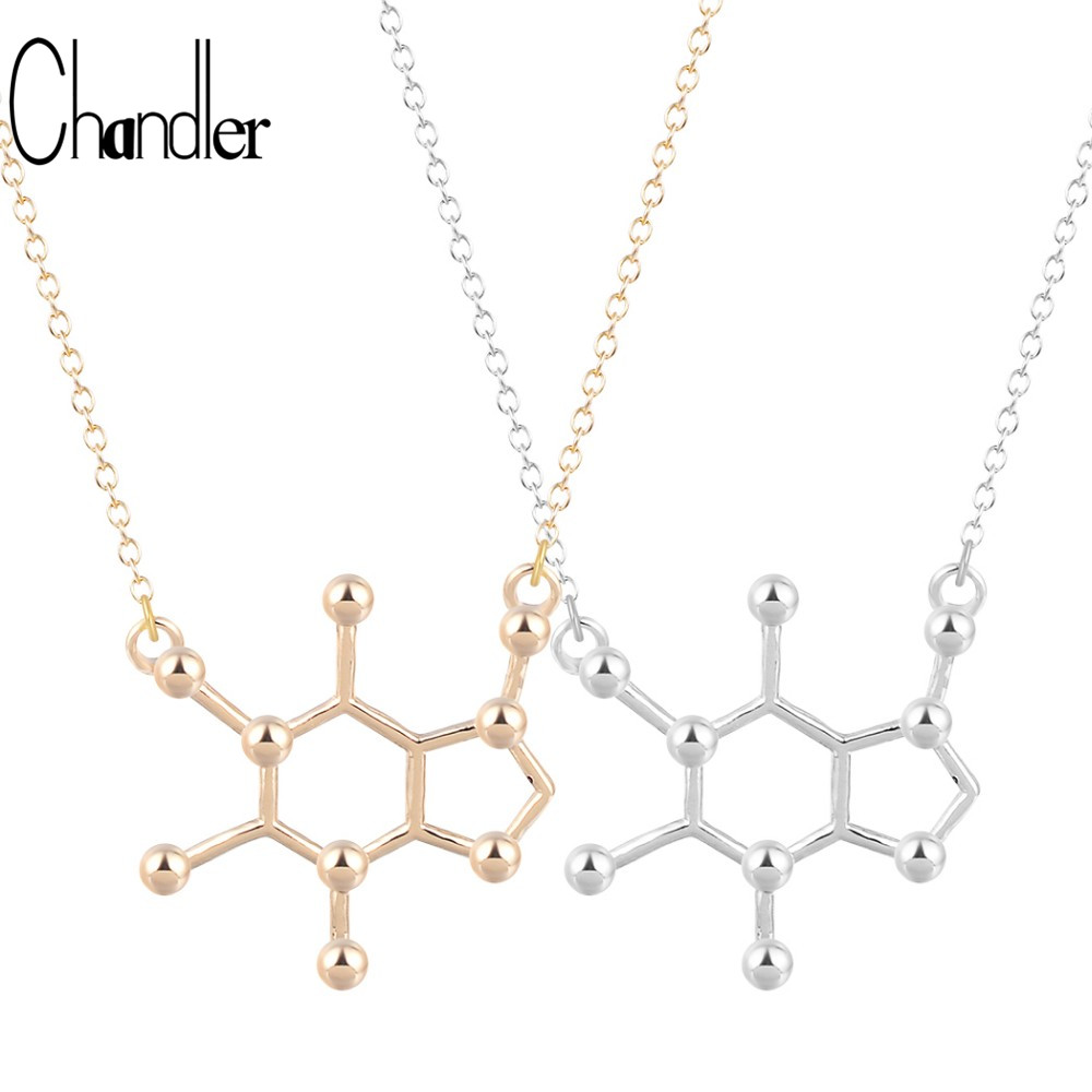 chandler caffeine molecule geometric polygon bar pendant
