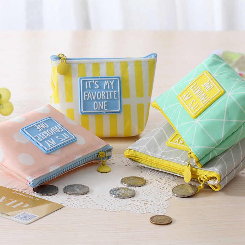 Criativo bonito de estudantes do sexo feminino bolsa pequena moeda fresco de armazenamento Mini vida simples pequeno saco pacote de chaves