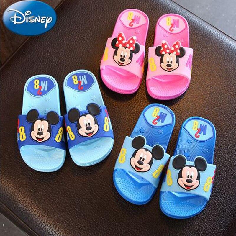 Disney Cute Mickey Minnie Kids Slippers Girls Boys Cartoon Children Shoes 2018 New Summe ...