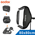 Godox Ajustable  Flash Quick installation Softbox 80cm * 80cm+ S type Bracket Mount Kit for Flash Speedlite Studio Shooting