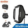 Godox flash ajustable instalación rápida softbox 80 cm * 80 cm + tipo s soporte kit de montaje para flash speedlite estudio de disparo