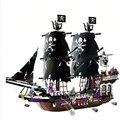 Nueva Llegada 896 UNIDS Barco Pirata Negro Perla Cráneo Diseños Figura Bloques de Construcción Ladrillos Modelo Juguetes Regalos de Navidad Para Los Niños