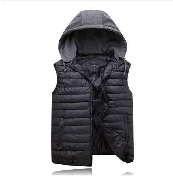 2014 new mens winter cotton padded vest plus size thick hooded men sleeveless jacket  casual 5XL/8XL waistcoat for man S873