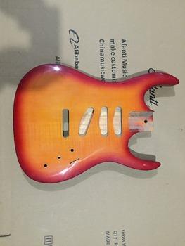 Afanti Music gitara elektryczna DIY korpus gitary elektrycznej (ADK-612) tanie i dobre opinie Beginner Unisex Do profesjonalnych wykonań Nauka w domu LIPA Drewno z Brazylii None Electric guitar Electric guitar body
