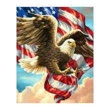 national flag and eagle full square diy 5d diamond painting cross stitch kits mosaic embroidery diamond painting XU(China)