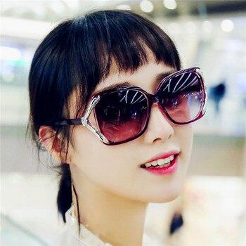 GUANGDU 2019, gafas De Sol Retro De gran montura, gafas De Sol femeninas De diseñador De marca con gradiente para conducir, gafas De Sol UV400