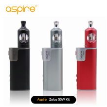 Original Aspire Zelos 50W Kit med Zelos Box Mod Vape 2500mah Batteri 2ML Aspire Nautilus 2 Tank Aspire Zelos Kit 1Pcs / Lot