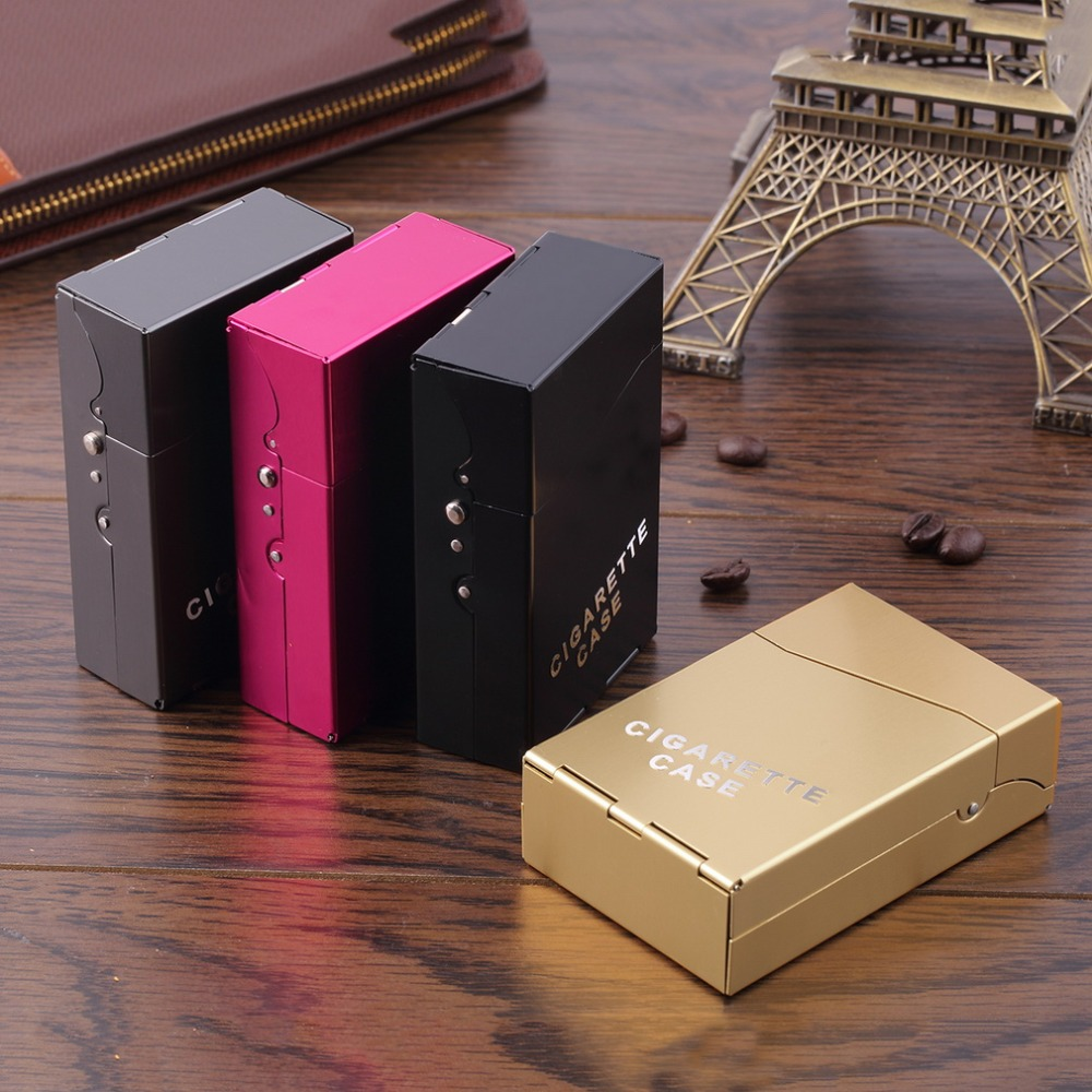 1Pc Protable Lady Women Slim Aluminum 20 Pieces Cigar Cigarette Tobacco Holder Storage Case Pocket Box Drop Shipping