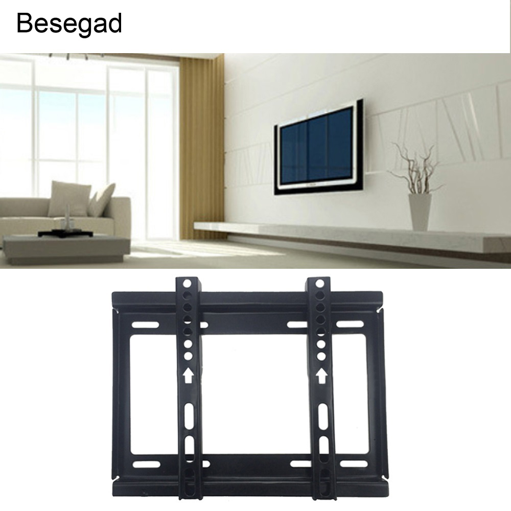 Besegad TV Bracket Max Load-bearing 55.12lb TV Rack Wall Mount for 14-42inches LCD LED Plasma TVs Flat Panel Screen