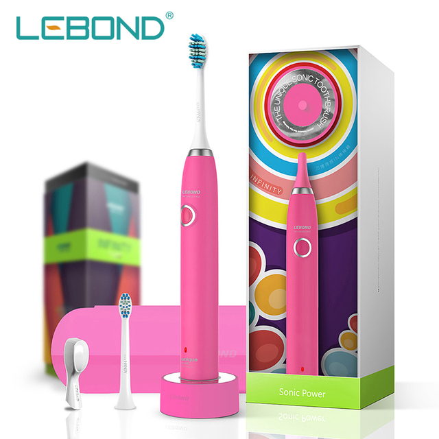 LEBOND LBINR  Colorful Sonic Electric Toothbrush Oral Hygiene Health Products for Adults  Birthday Gift for friends  Pink