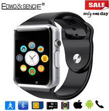 EDWO A1 Bluetooth Smart Watch Clock Support SIM Card Pedometer Smartwatch Reloj Inteligente For iOS Android PK DZ09 U8 GV08