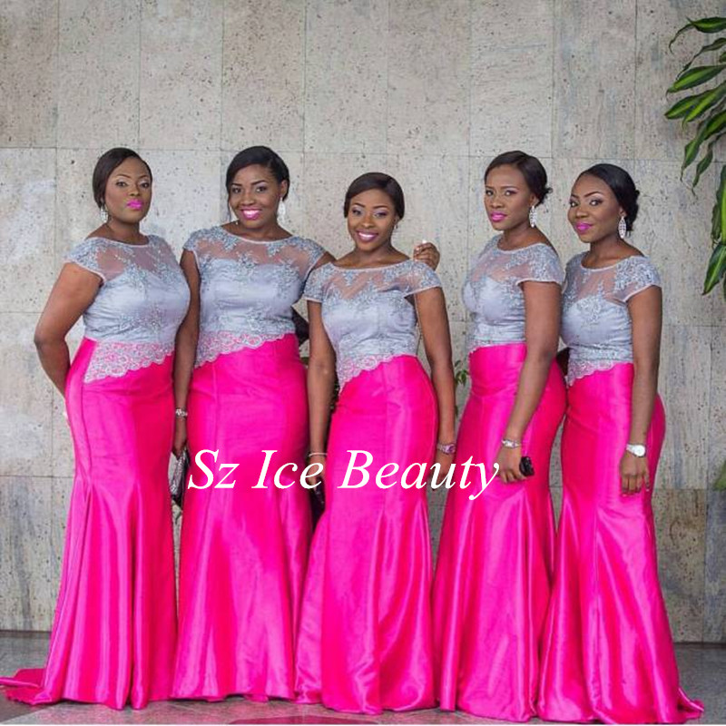 Excepcional Hot Pink Bridesmaids Dresses Cresta - Ideas de Vestido ...