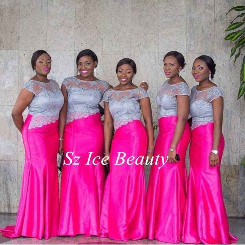 Hot Pink Bridesmaid Dresses Fashion Bright