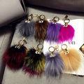 Alta Calidad Multicolor Monster Genuine Mink Fur Llavero Cadena Dominante Del Coche Mujeres Bolsa Accesorios de Piel Bolsa de Encanto
