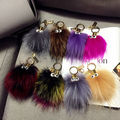 High Quality Multicolor Monster Genuine Mink Fur Keychain Car Key Chain Key Ring  Women Bag Accessories Fur Bag Charm