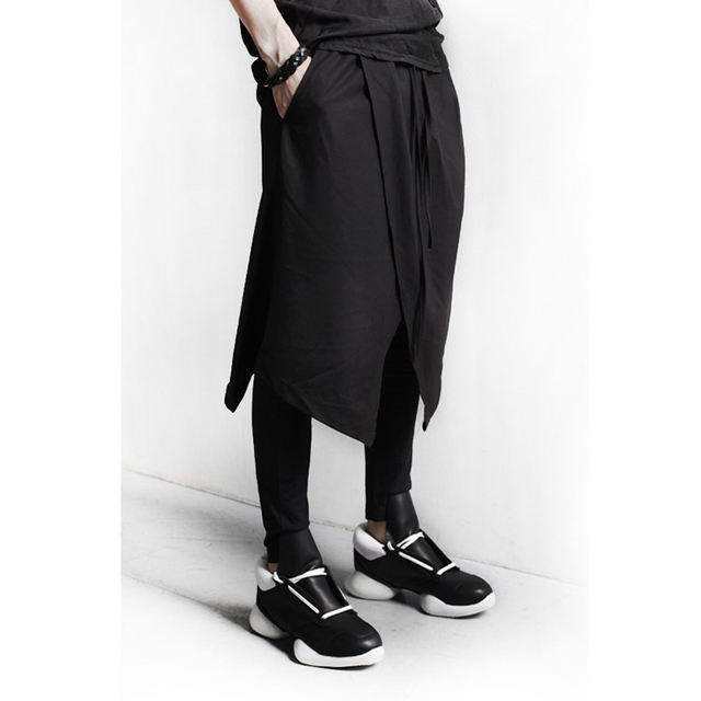 Певец мужской DJ черная полоса панк КОСТЮМ ЮБКА сапоги карандаш ноги брюки брюки