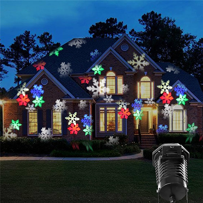 Christmas Waterproof Snowflake Landscape Laser Spotlight LED Projector  Stage Light for Holiday Outdoor Garden Decor 10 Slides-in Stage Lighting  Effect from ... - Christmas Waterproof Snowflake Landscape Laser Spotlight LED