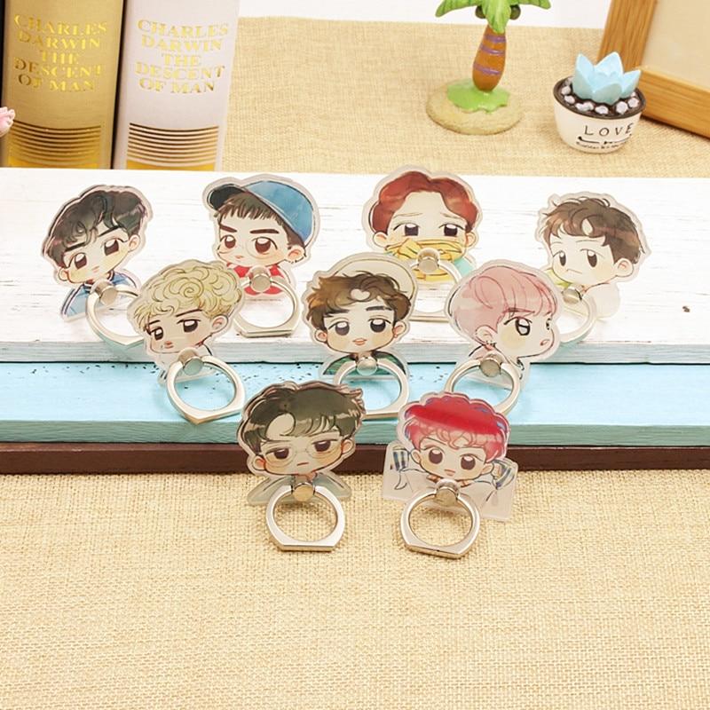Kpop K-POP Exo Kai Suho DO D.O. LAY SEHUN CHEN TAO Album Monster Case 360 Degree Finger Rings Stand Holder ZHK