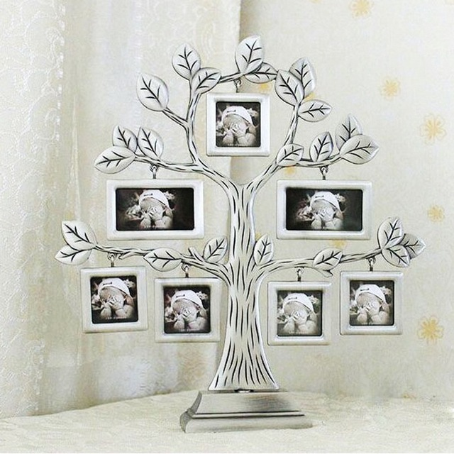 1 Pcs Family Tree Metal Photo Frame Lovely Creative Gift Diy Picture