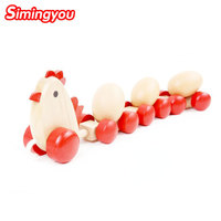 Simingyou Children Toys The Little Hen Drops Eggs Bright Wooden Puzzle 38 12 5 8cm B40