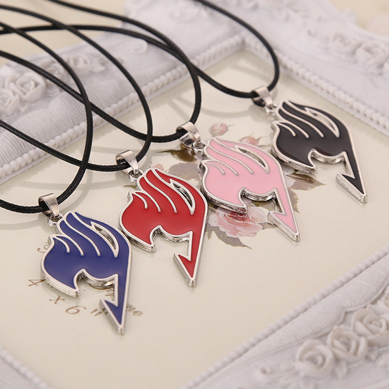 5 Colors New Fashion Hot sale Drop Shipping Charming Jewelry Alloy Fairy Tail Guild Sign Pendant Necklace CND217