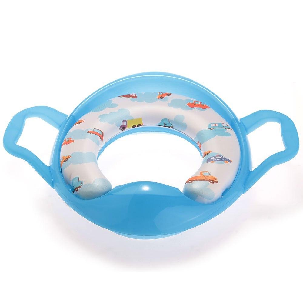 PHFU Wholesale Bleu Siege Pot Reducteur de Toilette Lunette WC avec Poignee pour Bebe Enfant ...