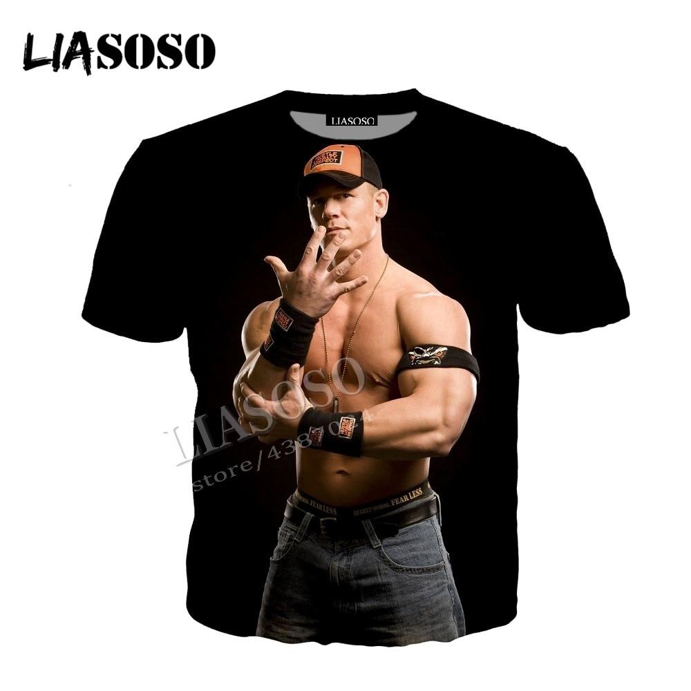 LIASOSO latest 3D printing cozy polyester WWE wrestling entertainment John Senna zipper hooded shirt men women sportswear CX591