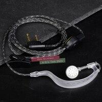 מכשיר הקשר שני הדרך מכשיר הקשר מיקרופון אוזניות שני הדרך רדיו Earhook אוזניות באיכות גבוהה אפרכסת אוזניות עבור Baofeng 888S UV5R Kenwood HYT TYT (1)