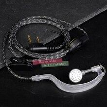 Zestaw bezprzewodowy mikrofonu Walkie Talkie dwukierunkowe prowadnice słuchawek dousznych wysokiej jakości słuchawki douszne do BaoFeng 888S UV5R Kenwood HYT TYT