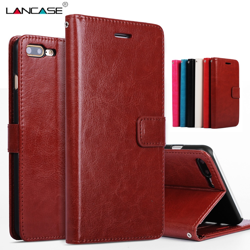 LANCASE Na iPhone 6s 11 PRO Pokrowiec ochronny PU Leather Luxury Portfel Pokrowiec na iPhone 6 etui 6 Plus 5S 7 Plus 8 Case 8 Plus Hoesje