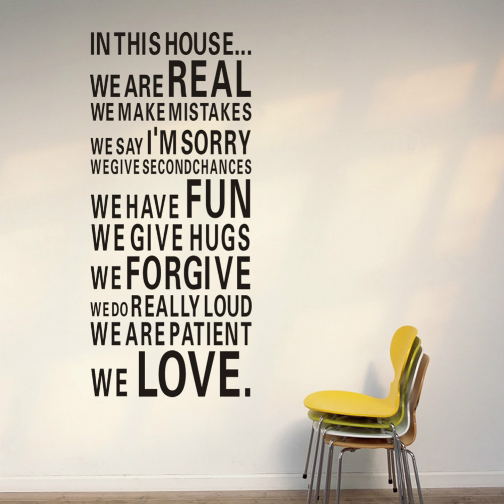Aliexpresscom  Buy Harmony House Rules In This House Quote Wall - House rules wall decals