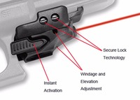 Black Polymer Tactical Mini Pistol Glock Red Laser Sight Rail Accessory For Hunting Rifle Gun Airsoft Shotgun