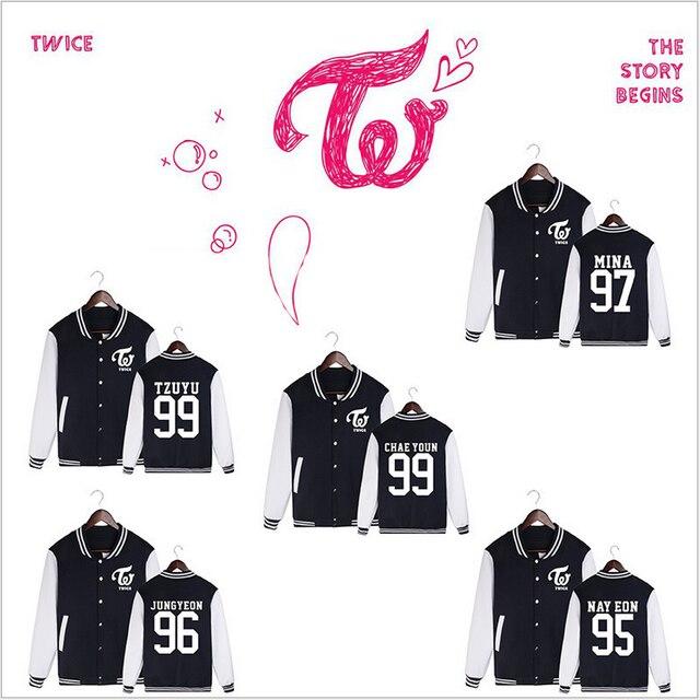 kpop TWICE MOMO MINA SANA baseball uniform Comfortable JACKETS hoodie