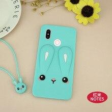 3D Cartoon rabbit Silicone Cover For Xiaomi redmi note 5 5A Cute Horse Rubber Case for