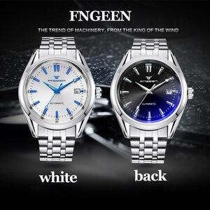 Image 5 - Часы наручные FNGEEN мужские с автоподзаводом, Роскошные водонепроницаемые автоматические механические, с турбийоном, с датой