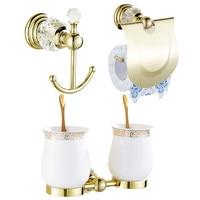 AUSWIND Modern brass gold polish wall mount bathroom products