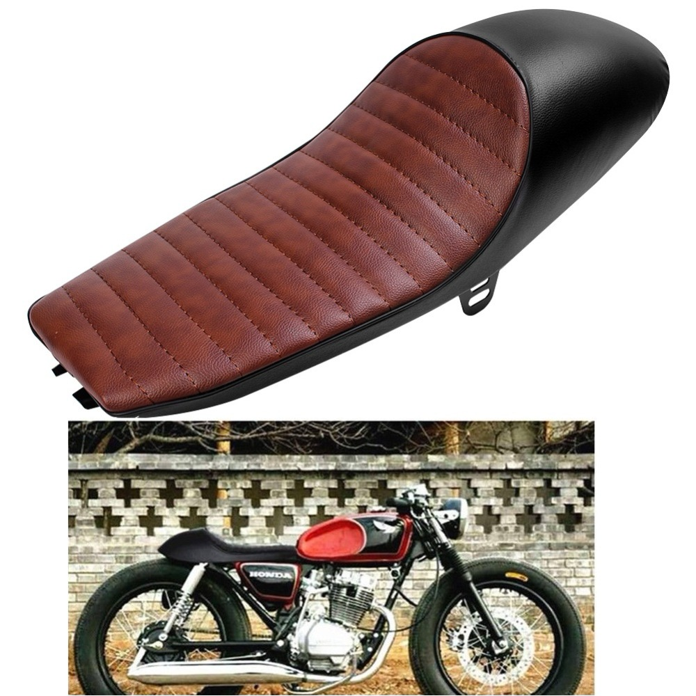 New Universal Motorcycle Retro Hump Cafe Racer Seat Vintage Saddle for Yamaha SR400 <font><b>SR500</b></font> XJ XS Honda CB 100 200T 350 400 550 image