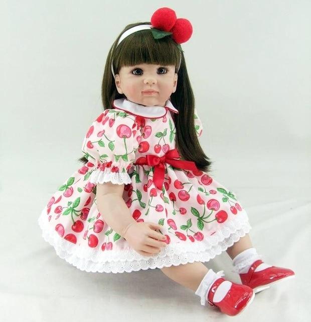 Silicone Reborn Baby Doll Toys 60cm Vinyl