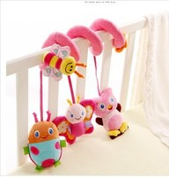 Baby Rattles Multicolor Baby IQ Development Early Learning Toy Monkey Elephant Bed Crib Hanging Plush Toys